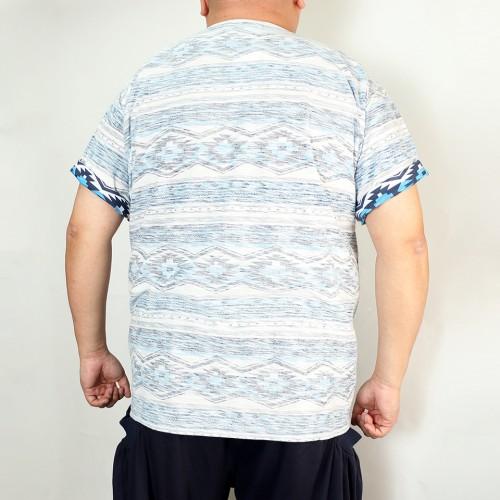 Back Print Tee - Blue