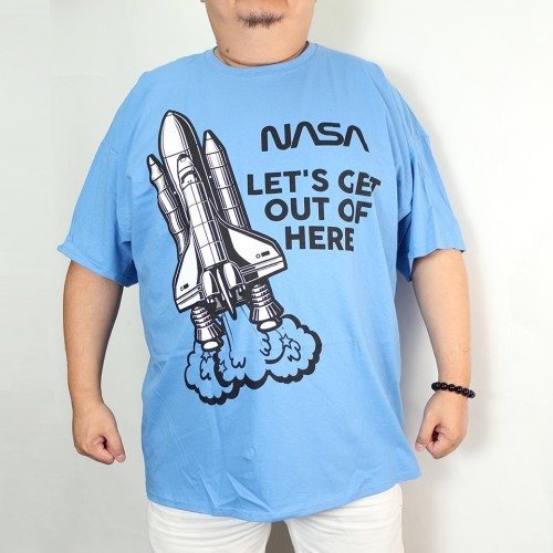 Nasa Let's Get Out Of Here Tee - Blue