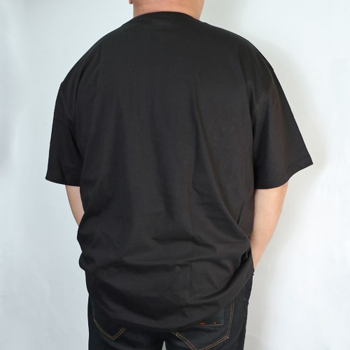 Simple Straight Print Logo Tee - Black