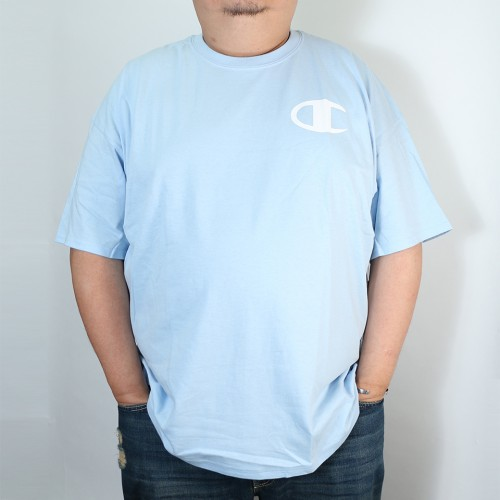 Simple Retro C Logo Tee - Light Blue