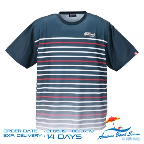 Dry Mesh Border Panel Tee - Navy