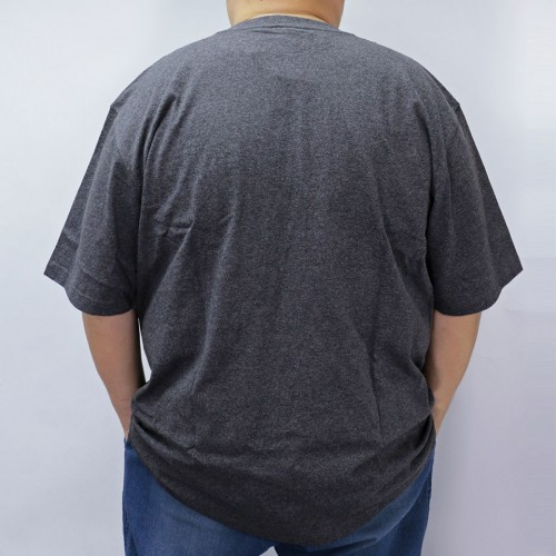 Simple S/S Pocket Tee - Carbon Heather