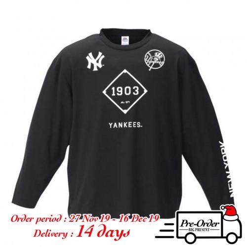 New York Yankees L/S Tee - Black