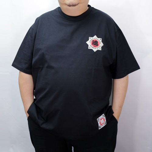 Hanafuda Crane And Sun Tee - Black