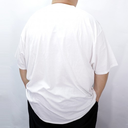 Fake Double Pocket V-Neck Tee - White