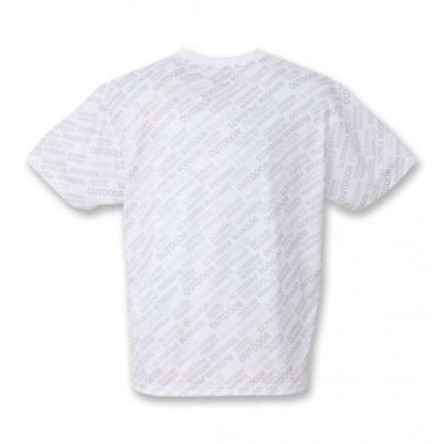 Dry Mesh Logo Pattern Tee - White