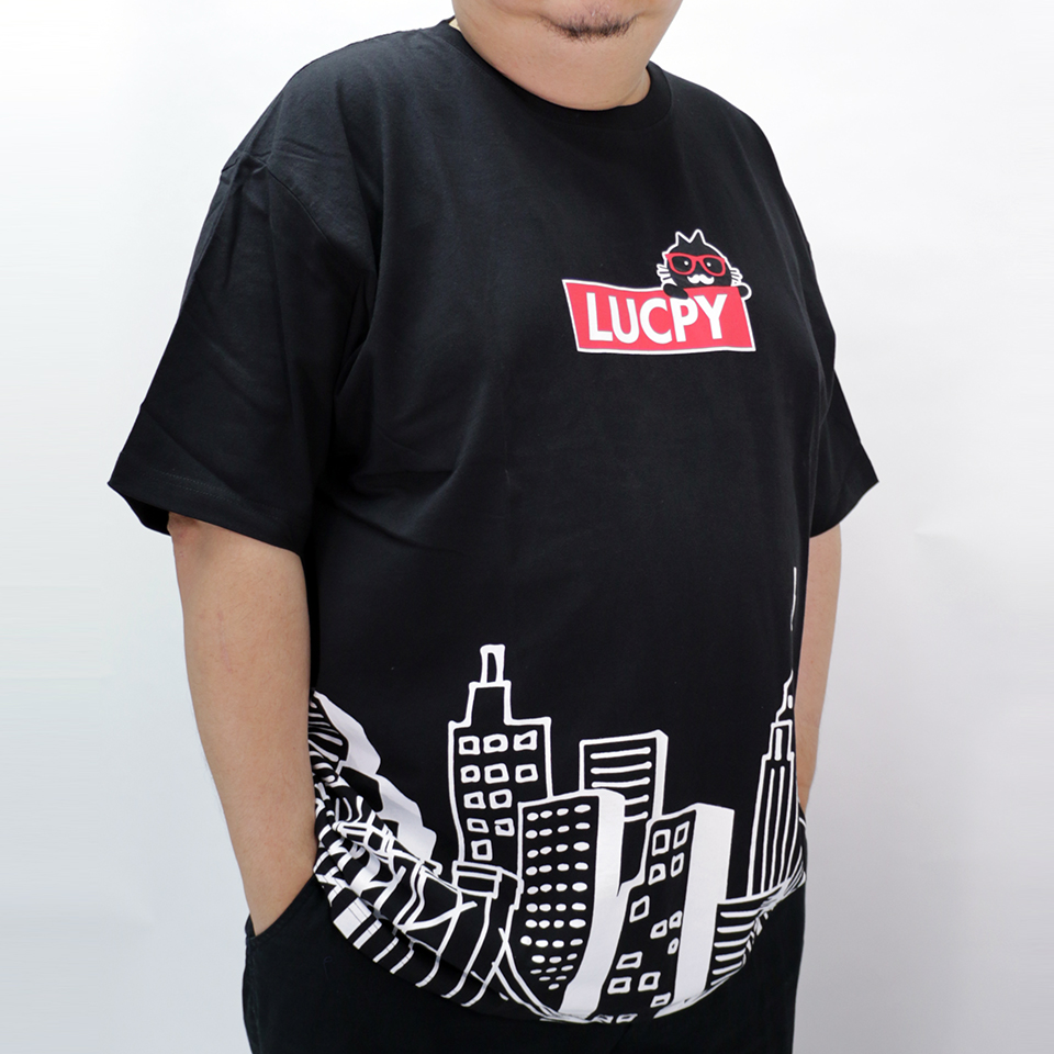 Lucpy In The City Tee - Black