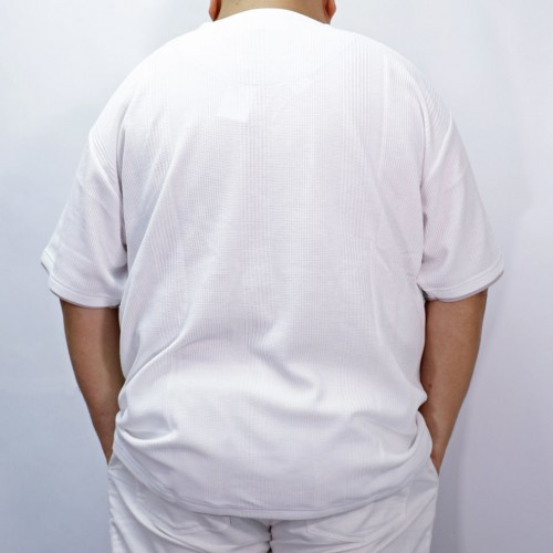 Fake Ray Yard Henry Neck Tee - White