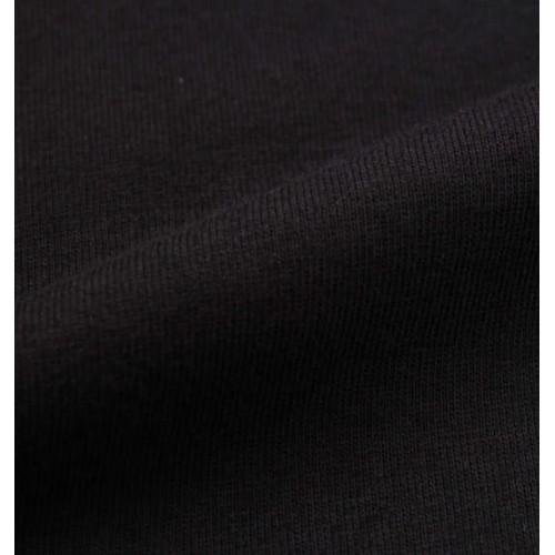 Bear Embroidered L/S Pocket Tee - Black