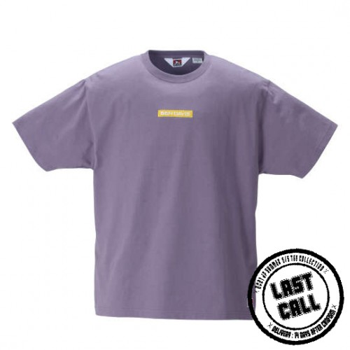 Box Embroidery Tee - Purple