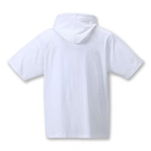 Flocky Logo S/S Hoodie - White