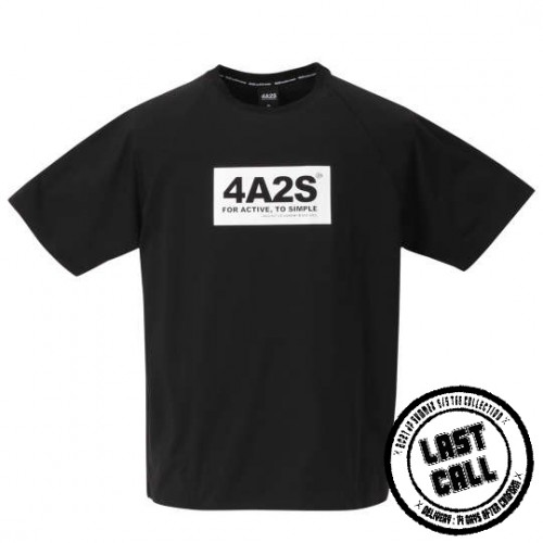 4A2S Box Tee - Black/White