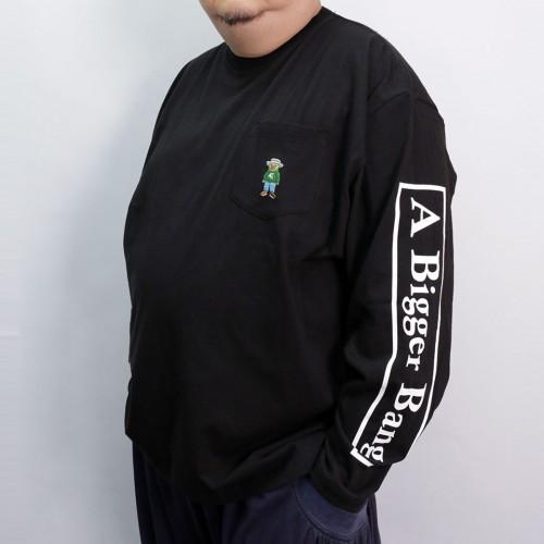 A Bigger Bang Embroidery Pocket L/S Tee - Black