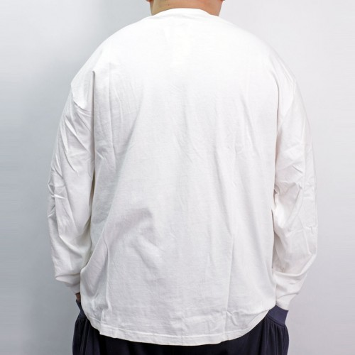 A Bigger Bang Embroidery Pocket L/S Tee - White