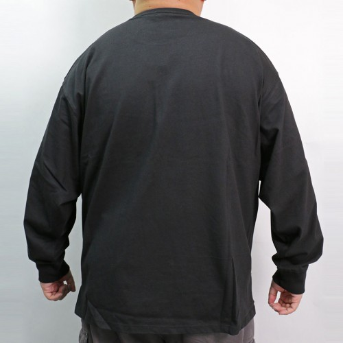 Crew Neck L/S Pocket Tee - Black