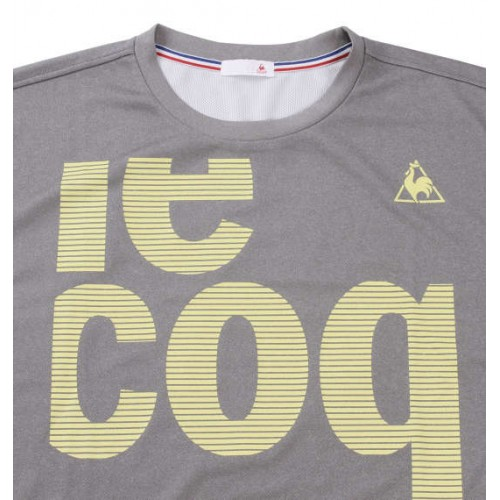Soft Double Mesh Short Sleeved Tee - Grey