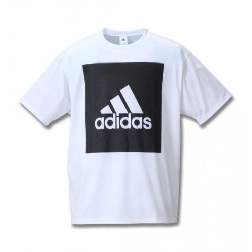 Big Square Logo Short Sleeve Tee - White
